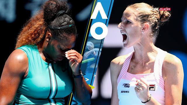 Highlights: Sensationelt comeback mod Serena Williams sikrer Pliskova en semifinaleplads