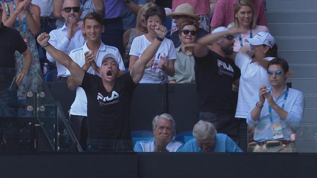 Open Australia 2019: La locura absoluta (con Conchita de testigo) del marido de Pliskova