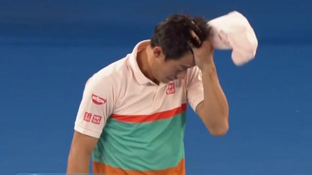 Open de Australia 2019: Nishikori no puede continuar y abandona ante Djokovic