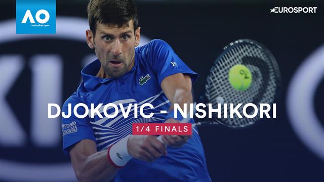 Open Australia 2019: Djokovic pasa a semis por el abandono de Nishikori