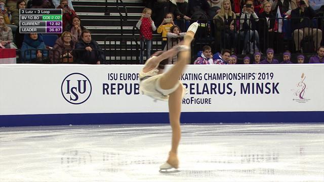 Alina Zagitova tops standings with short program routine