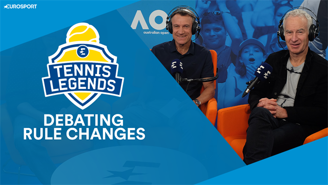 The Tennis Legends Vodcast - Becker, McEnroe and Mats debate rule changes