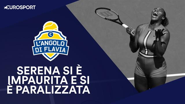 """L'Angolo di Flavia Pennetta: """"Serena Williams si è impaurita e si è paralizzata"""""""
