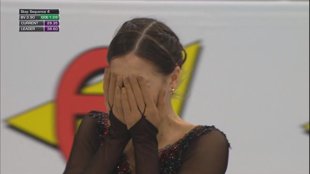 Константинова смазала тройной тулуп в короткой программе и расплакалась
