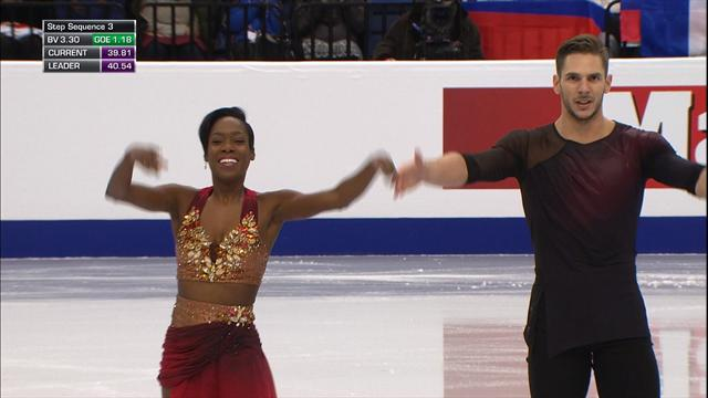 Vanessa James and Morgan Cipres shine at the European Championships
