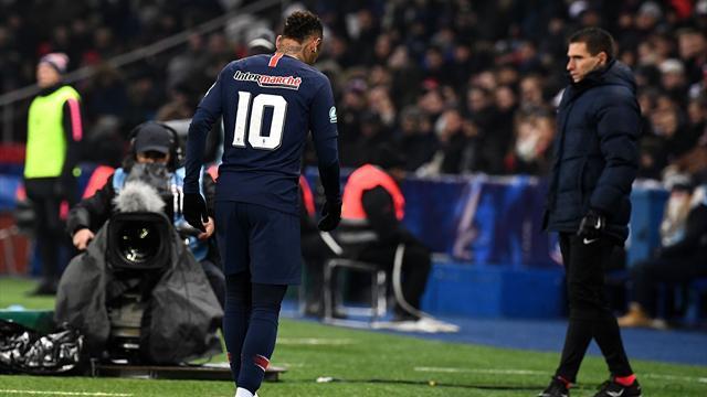 Drama en el PSG: Neymar se retira llorando y se teme una lesión de gravedad