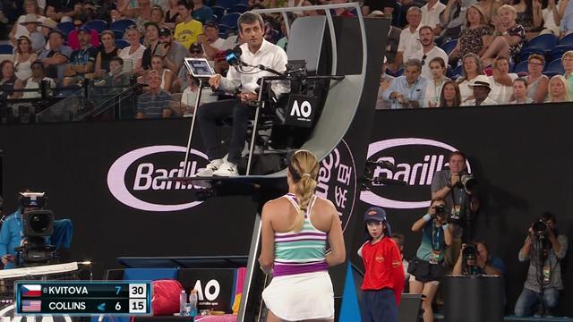 Après Serena à New York, c'est Collins qui avait l'arbitre Carlos Ramos et son bip dans le viseur