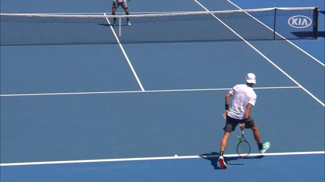 Stunning tweener lob wins game for junior star Musetti