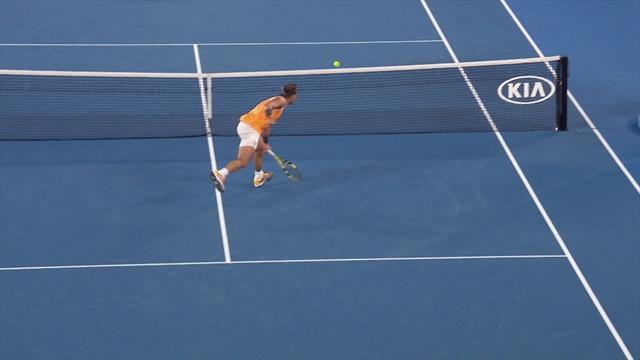 'Quite phenomenal' - Nadal drop shot leaves Tsitsipas helpless