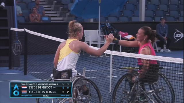 AO | Diede de Groot na Nederlands onderonsje in vrouwen rolstoelfinale
