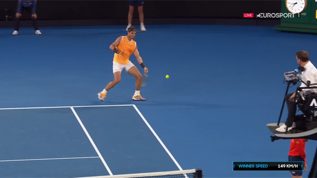 'That's a Rafa special! - Nadal hits amazing round-the-net winner