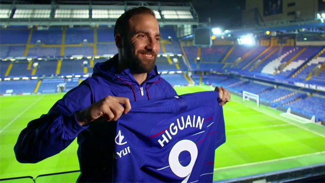 Higuain: I want to pay back Chelsea's trust on the pitch