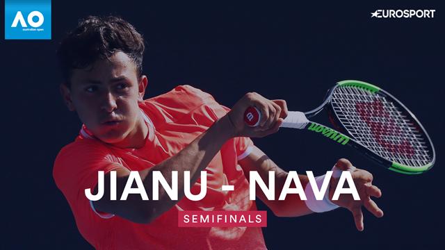 Australian Openjunior: Nava-Jianu 3-6 6-2 7-5, gli highlights