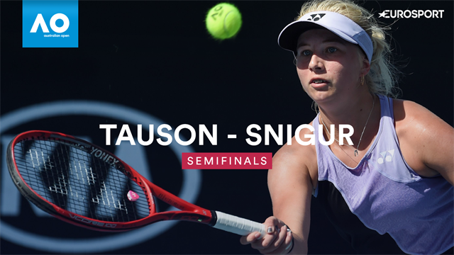 Highlights: Overbevisende Clara Tauson spiller sig i finalen i Australian Open for juniorer