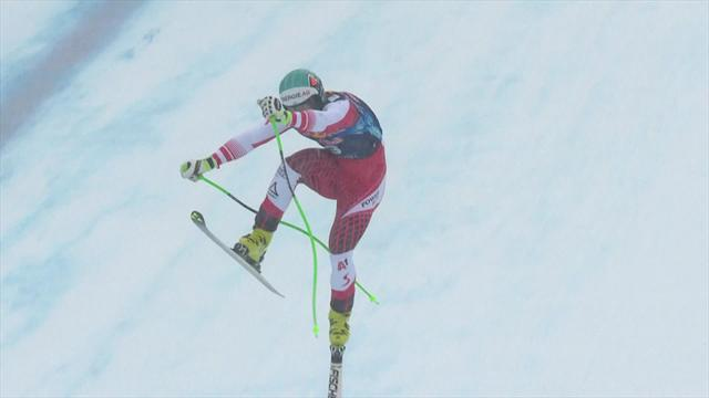 Kriechmayr somehow stays upright to finish daredevil run in Kitzbühel