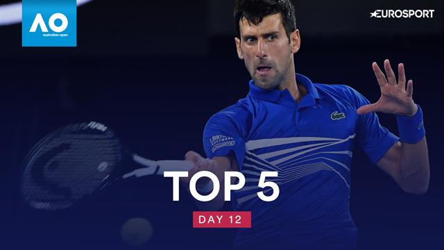 Top 5 Australian Open: i colpi più belli del Day 12