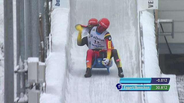 Egger and Benecken beat out Olympic champions Wendl and Arlt to secure gold