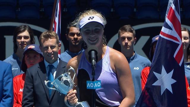 Rørt Clara Tauson efter stor triumf: Australian Open er helt sikkert min yndlingsturnering nu