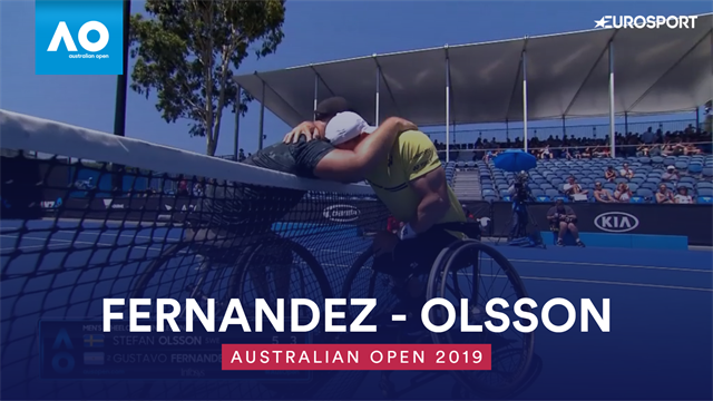 Highlights: Fernandez beats Olsson in straight set to win men's wheelchair final