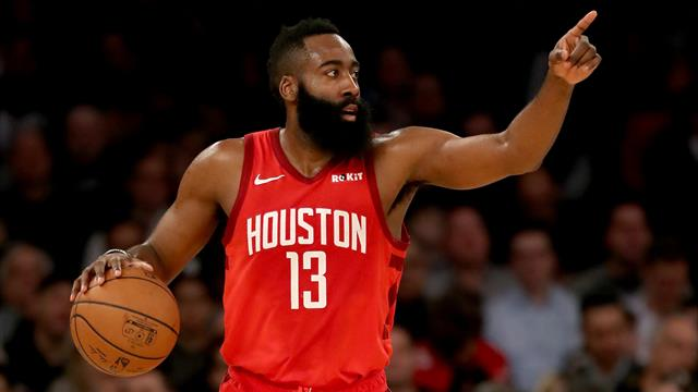 b824cf24515f James Harden extended his streak of consecutive 30-point games to 22 but  had plenty of help as the Houston Rockets claimed a 121-119