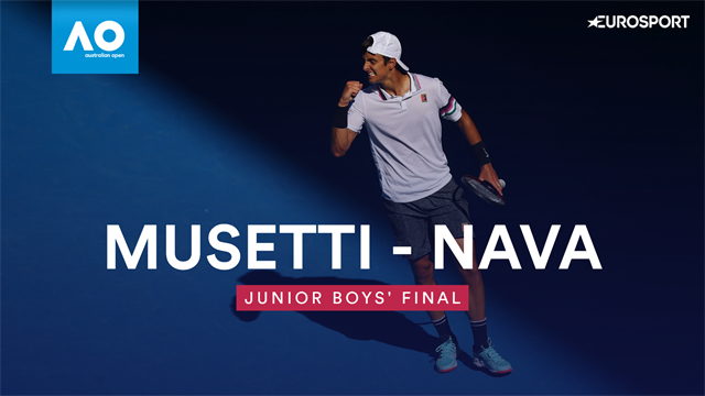 Highlights: Musetti beats Emilio Nava in tight boys' final