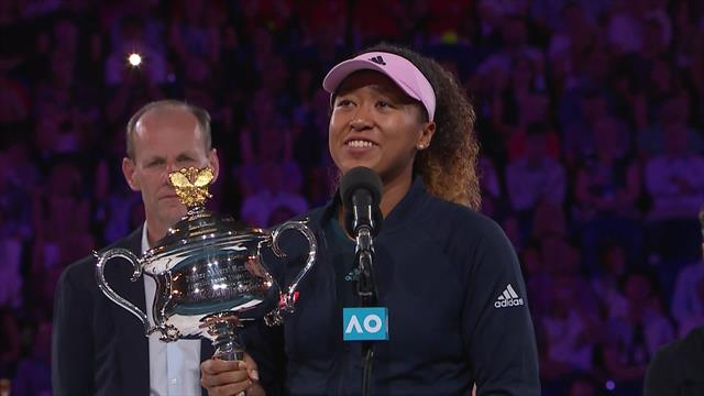 'I just hope I can get through this!' - Osaka pays tribute to Kvitova and team in speech
