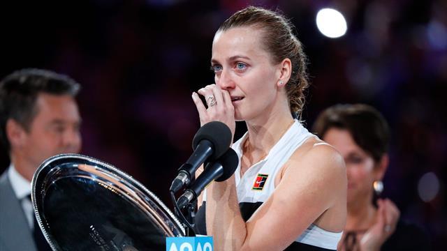 Rørt Kvitova etter finalen: – Visste ikke om jeg ville klare å holde en racket igjen