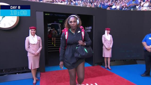 Emotional farewells, Serena's early entrance, icy Sharapova: Top moments from Australian Open