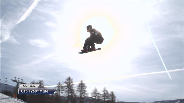 Markus Olimstad wins Snowboard slopestyle event in Seiser Alm