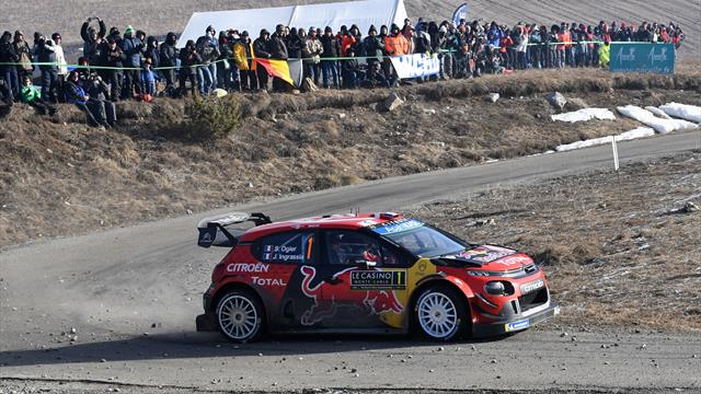 Ogier and Neuville head into Monte Carlo finale seconds apart