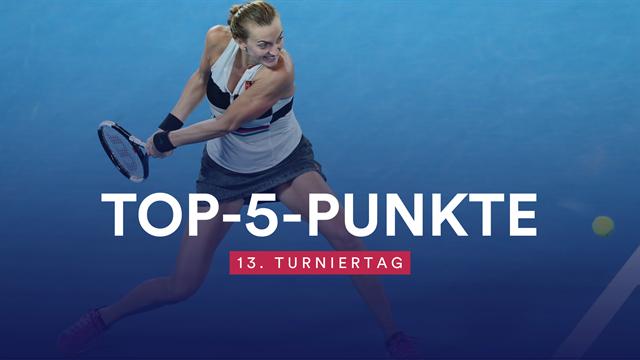 Top 5 des Tages: Irres Netzroller-Duell geht an Kvitova