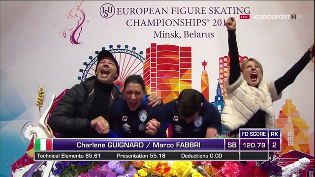 Charlene Guignard e Marco Fabbri da sogno: l'Italia è bronzo europeo nella danza