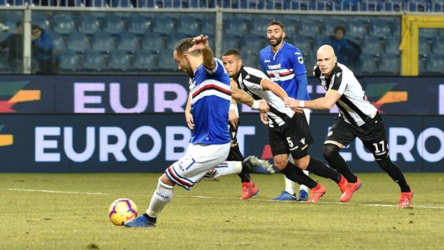 Sampdoria-Udinese: 4-0, Quagliarella è da record! In rete anche Gabbiadini