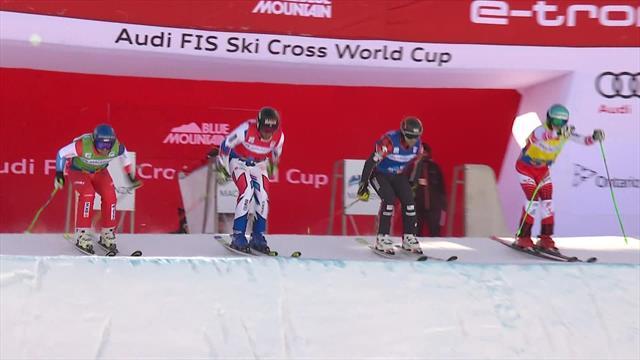 Leman takes title in eventful ski cross final in Blue Mountain