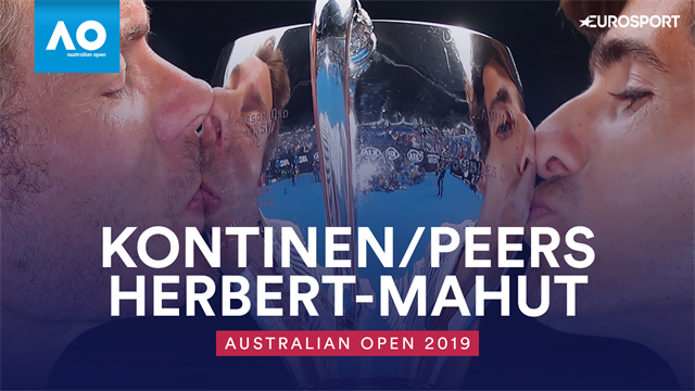 Highlights: Herbert and Mahut beat Kontinen and Peers to take doubles crown