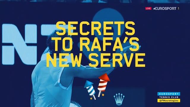 Les 3 secrets du nouveau geste de Nadal au service