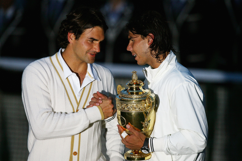 Roger Federer e Rafa Nadal (Wimbledon 2008)