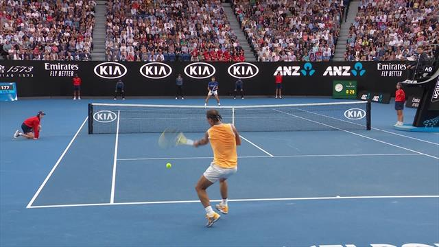 Nadal totally misses ball on forehand - 'We've seen it all now!'