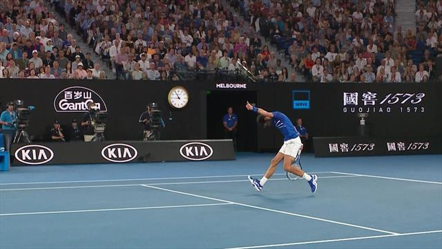 Djokovic gives thumbs up after 'outstanding' Nadal drop shot
