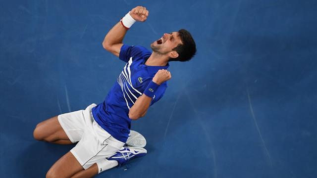 Un dernier revers trop long de Nadal et Djokovic a pu exulter : revivez la balle de match