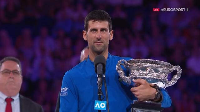 Open Australia 2019: El emocionado discurso de Djokovic elogiando a Nadal y acordándose de sus hijos