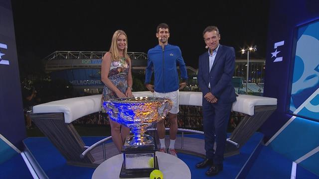 Djokovic: I've got goosebumps! Djokovic salutes fans outside Eurosport studio