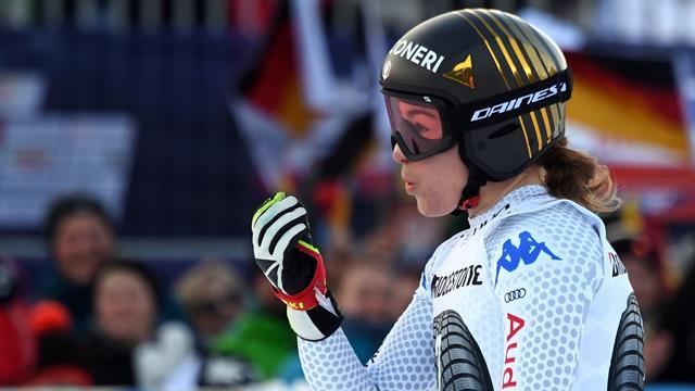 Sofia Goggia è ancora sul podio: seconda in discesa dietro solo alla Venier