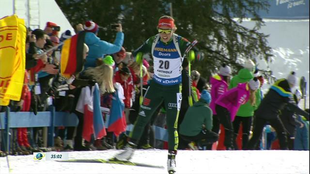 Laura Dahlmeier vince la 12,5 Km di Anterselva: 5° posto pesante per Dorothea Wierer