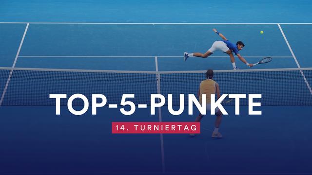 Top-5-Punkte zum Finale: Djokovic zaubert am Netz