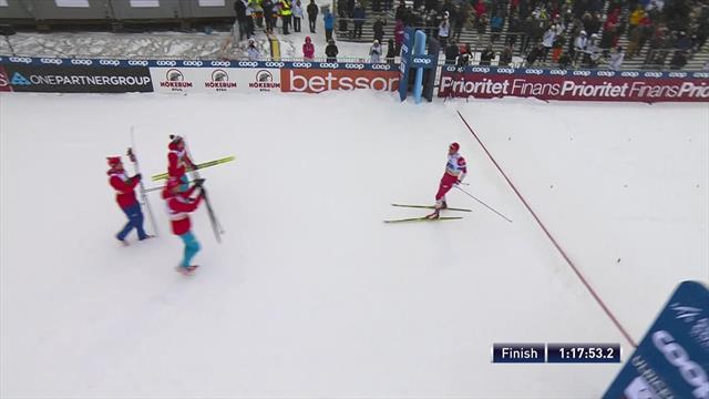 Соперники и лютый шведский снегопад не помешали двум сборным России забрать главные медали эстафеты