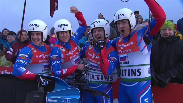 Russians claim luge relay crown in Winterberg