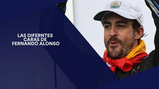 Las diferentes caras de Fernando Alonso