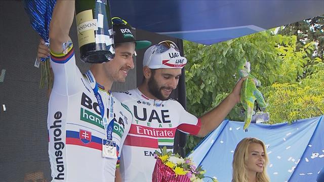Gaviria celebrates Stage 4 victory