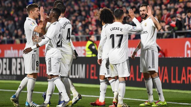 Benzema, doppietta spettacolo: il Real Madrid vince 3-1 a Girona e va in semifinale